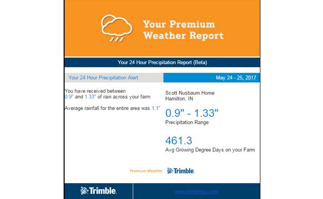 Сповіщення Trimble Farm Weather
